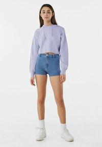 Bershka - Denim shorts - blue denim - 1
