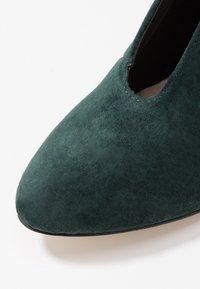 Anna Field - LEATHER - Ankelstøvler - dark green - 2