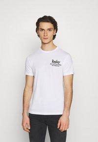 Replay - Print T-shirt - white - 0