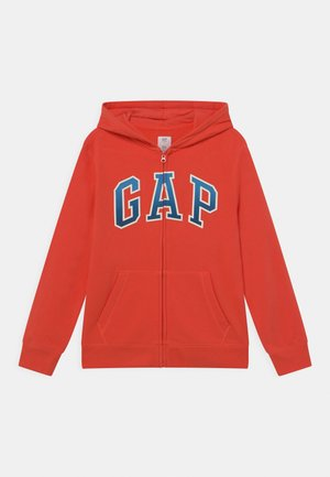 BOY LOGO  - veste en sweat zippée - deep papaya