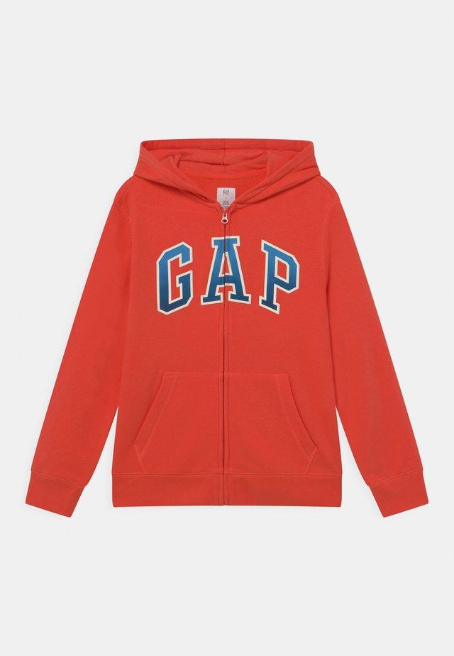 BOY LOGO  - Zip-up hoodie - deep papaya