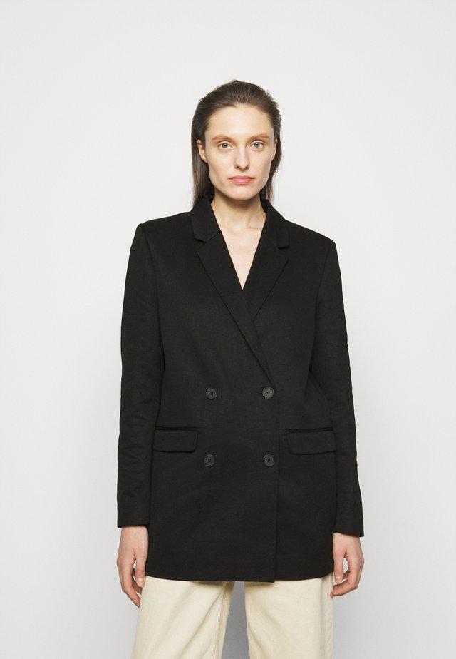 LITTA - Krátký kabát - black