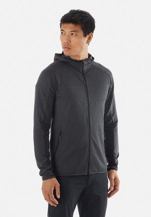 Fleece jacket - black melange