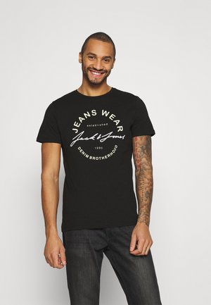 JJMOON TEE CREW NECK - T-shirt con stampa - black