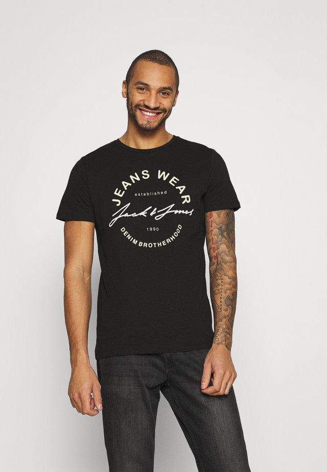 JJMOON TEE CREW NECK - T-shirt con stampa - black
