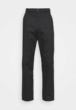 SLHLOOSE FLEX PANTS  - Chinos - black