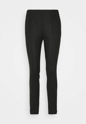 PINTUCK SKINNY - Trousers - black