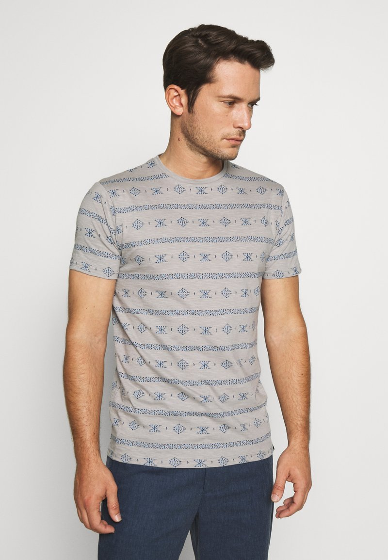 INDICODE JEANS - CANNES - T-shirt med print - grey