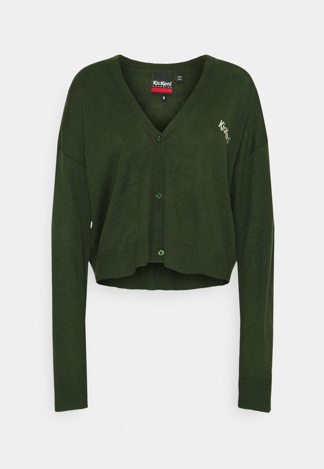 CARDIGAN - Strickjacke - green