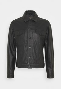 Trussardi - Leather jacket - black - 0