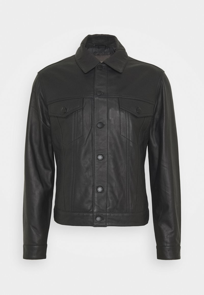 Trussardi - Leather jacket - black