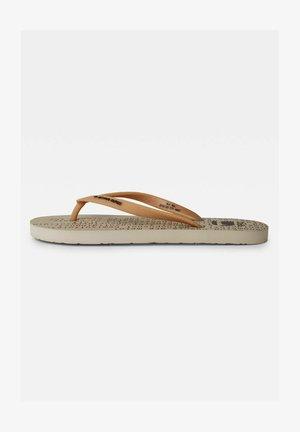 CARNIC FLIP FLOPS - T-bar sandals - beige