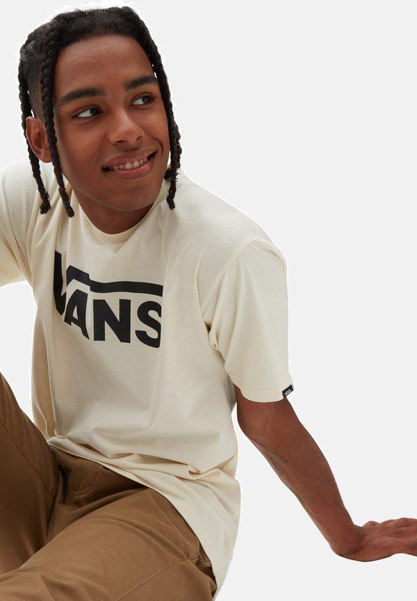 Vans CLASSIC - T-shirt z nadrukiem - mottled beige/beżowy melanż Odzież Męska WIWK