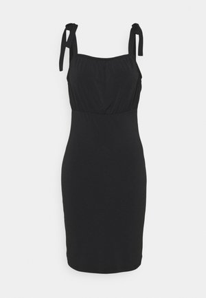 VIAMANDA SHORT STRAP DRESS - Jerseykjole - black