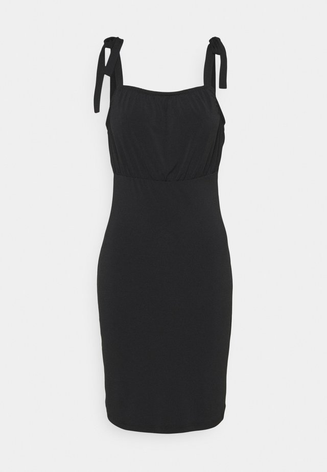 VIAMANDA SHORT STRAP DRESS - Žerzejové šaty - black