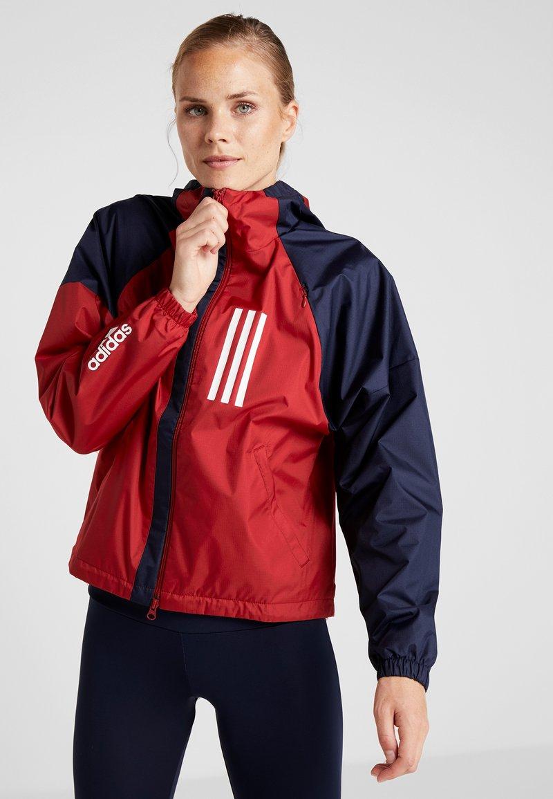 adidas Performance - Sportovní bunda - maroon/legend ink/white