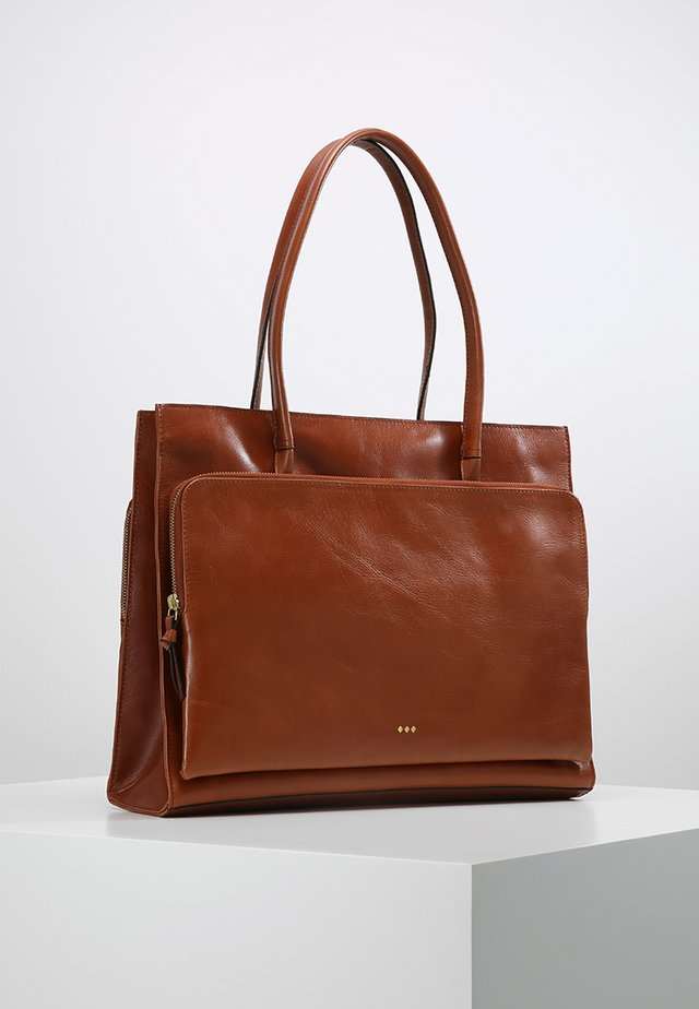 MEL - Shopping Bag - cognac