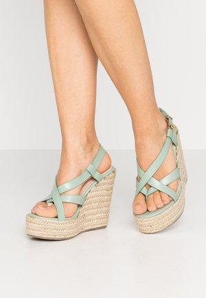 WIDE FIT ROCIO - Højhælede sandaletter / Højhælede sandaler - mint green