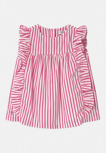 STRIPE SET - Shirt dress - pink/white