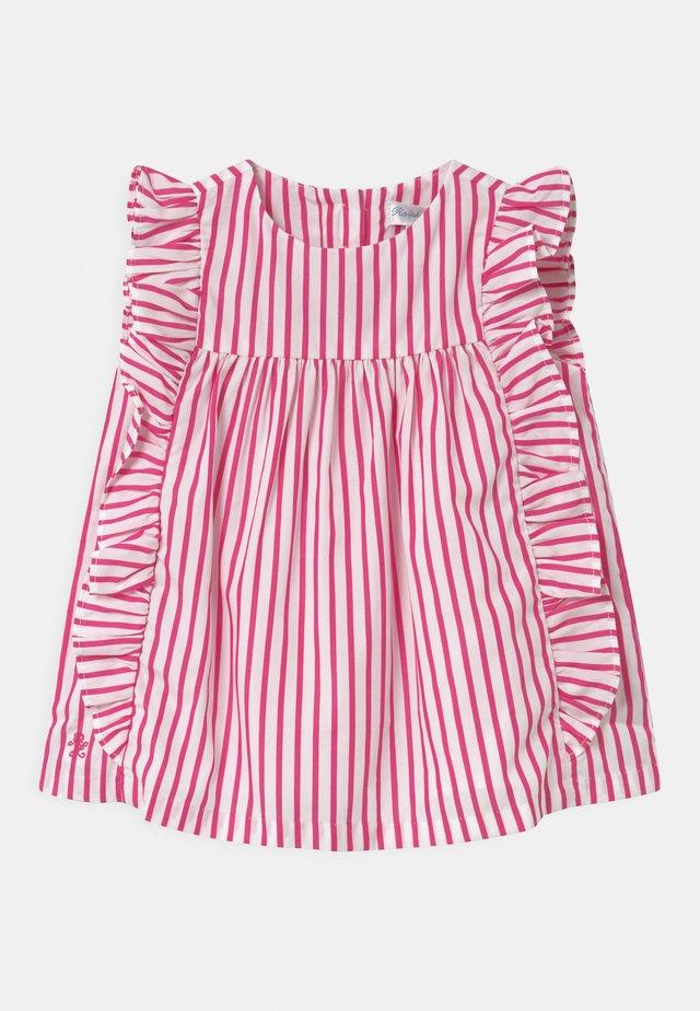 STRIPE SET - Košilové šaty - pink/white
