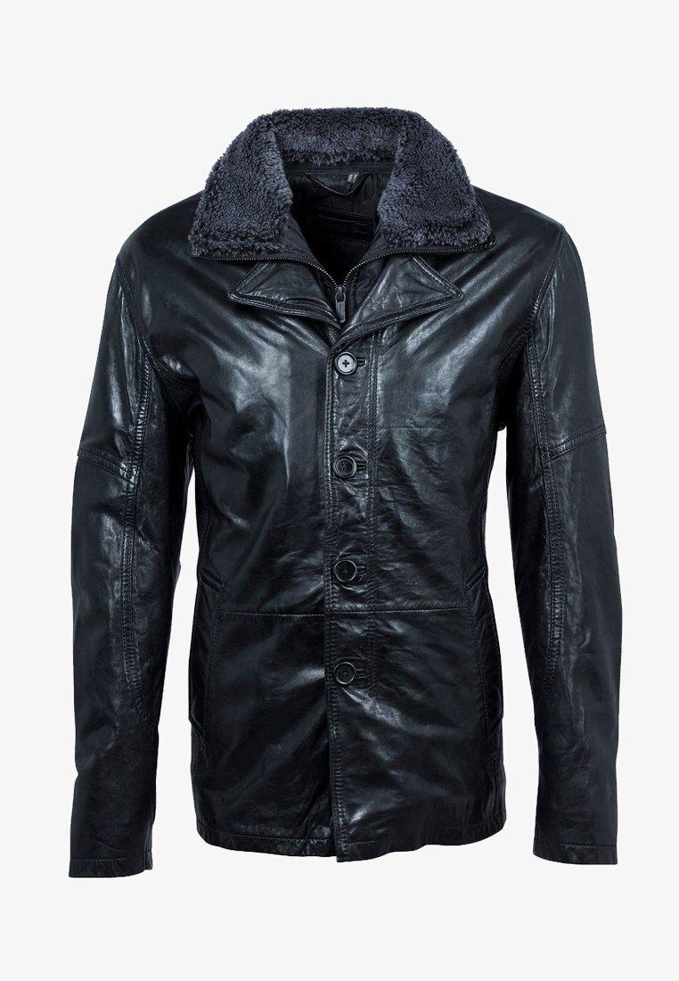 deercraft - Leather jacket - black