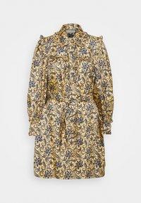 sandro - Shirt dress - doré/bleu - 5
