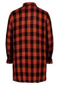 Zizzi - Button-down blouse - black comb - 2
