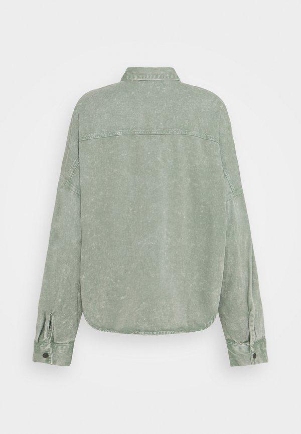 Noisy May NMRICA OVERSIZE ACID - Koszula - slate gray/szary UKZB