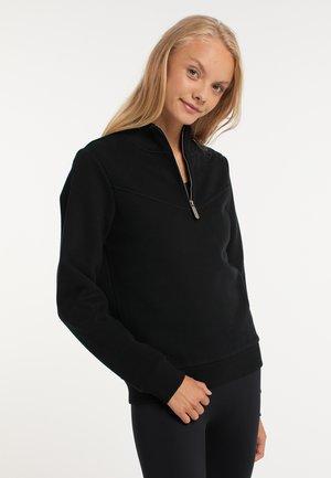 Fleece trui - schwarz