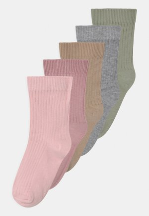 5 PACK UNISEX - Socks - dusty green