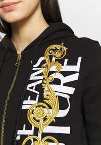 Versace Jeans Couture - Zip-up hoodie - black/gold - 5