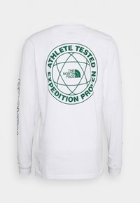 The North Face - DOUBLE SLEEVE GRAPHIC TEE - Long sleeved top - white/evergreen - 1