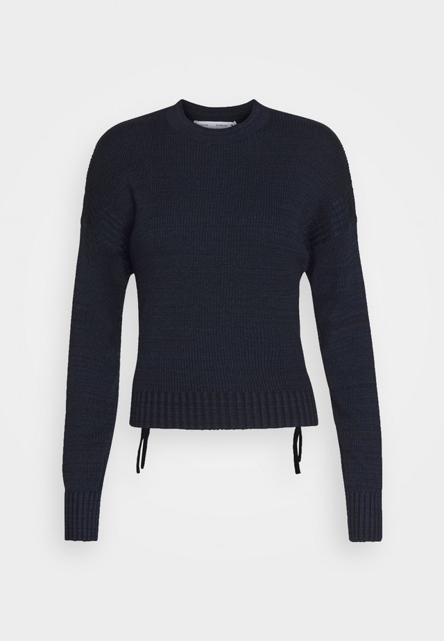 MARL WITH BACK DETAIL - Jumper - black/midnight