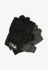 WOMENS GYM ULTIMATE FITNESS GLOVES - Fingerless gloves - black/white