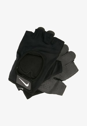 WOMENS GYM ULTIMATE FITNESS GLOVES - Fingerless gloves - black/white