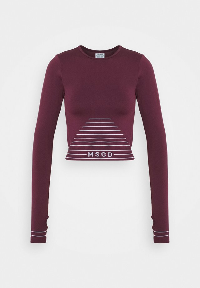 SEAMLESS LONG SLEEVE - T-shirt à manches longues - burgundy