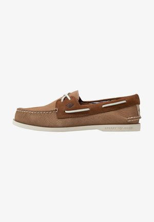 A/O 2-EYE PLUSH - Boat shoes - tan/brown
