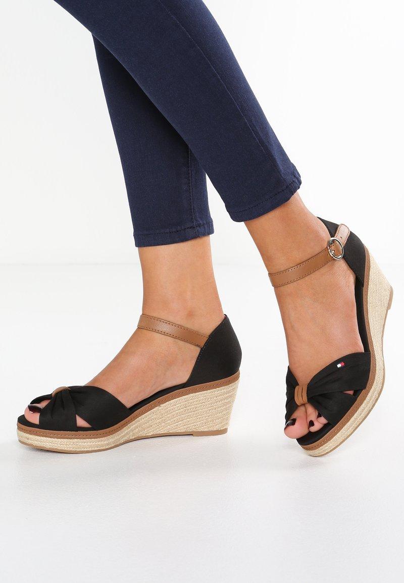 Tommy Hilfiger - ICONIC ELBA SANDAL - Platform sandals - black