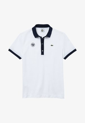 Polo shirt - weiß navy blau