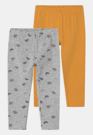 2 PACK - Leggings - Trousers - grey melange