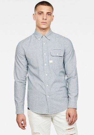 BRISTUM FLAP BTTN SLIM - Shirt - sun faded indigo stripe
