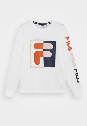 NOEMI GRAPHIC LONG SLEEVE UNISEX - Long sleeved top - blanc de blanc