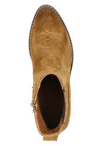 Nelson - Cowboy/biker ankle boot - cognac - 4