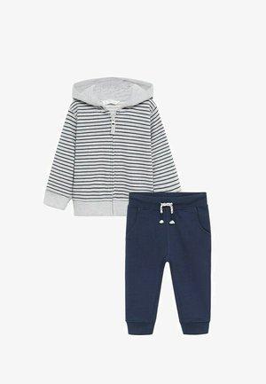 SET  - veste en sweat zippée - mottled light grey