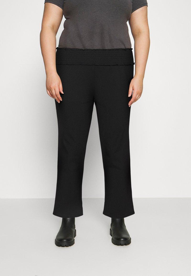 Vero Moda Curve - VMDITTE PANT - Kalhoty - black