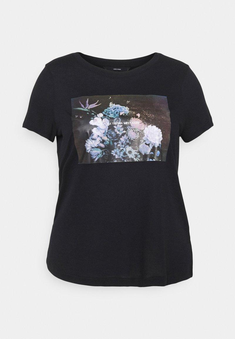 Vero Moda Curve - VMNELLFRANCIS - Camiseta estampada - black