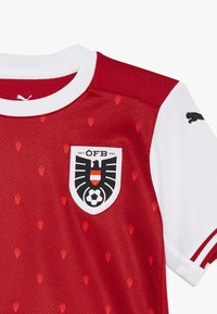 Puma - ÖSTERREICH ÖFB HOME REPLICA JUNIOR - Club wear - chili pepper/white/red - 3