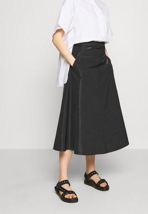 PASTA - Áčková sukně - black