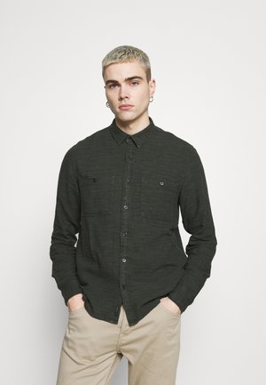 WAITS LINEN  - Shirt - dark military