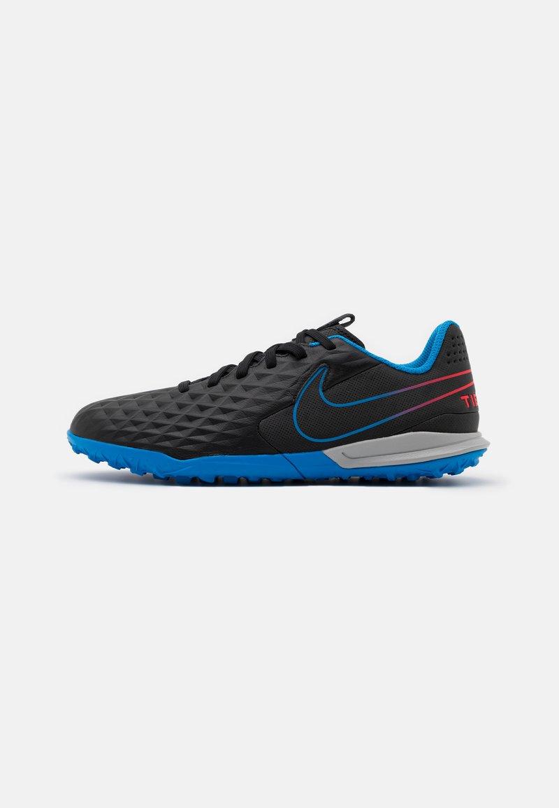 Nike Performance - JR TIEMPO LEGEND 8 ACADEMY TF UNISEX - Astro turf trainers - black/siren red/light photo blue